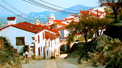 Rustic Village (Sandra_R) Tags: old houses light portugal beauty stone architecture wonder landscape outdoors photography rocks quiet colours afternoon exterior village bright background traditional details rustic clarity nobody typical ornate alentejo stillness landforms stylish marvo purity nationalsymbols ruralscenes hillsandmountains portalegre castelodevide serradesomamede