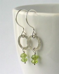 Peridot & silver earrings