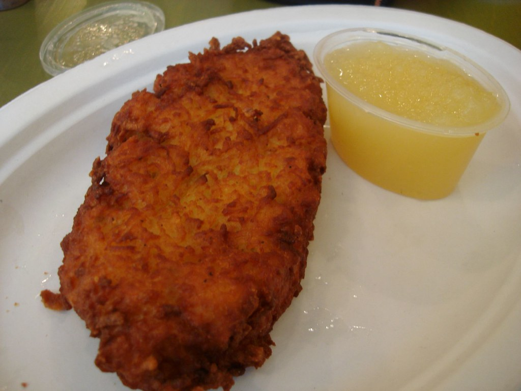 Potato Pancake w/ Applesauce from Mandlers, Midtown NYC