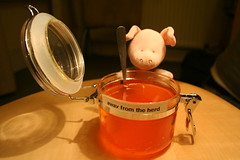 the proof is in the pudding (wibbly pig) Tags: art toy pig cow sticky glue contest plaster plush jelly marvin wibbly wibblypig cheekybeggar