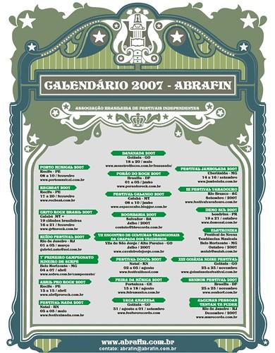 calendário de festivais alternativos em 2007