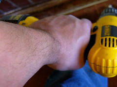 Drill Grip (365 / Day 001) (Icky Pic) Tags: selfportrait me work hand tools grip cordless drill powertools handtools workinghands dewalt 365days ickypic
