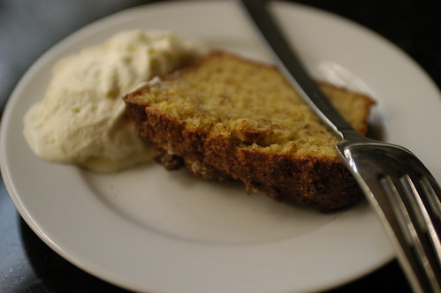 orange-almond cake with lemongrass ice cream