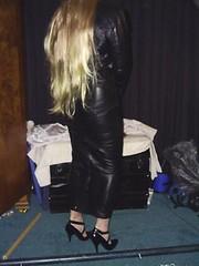 leatherdress3 (strugglegrrl) Tags: leather dress hobble
