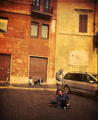 Italian people (Victoriano) Tags: poverty charity sunset