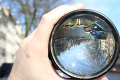 Messing around with fisheye lens, Prinsengracht, Amsterdam (blacque_jacques) Tags: amsterdam prinsengracht