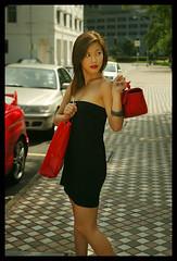 Shoppande kvinna