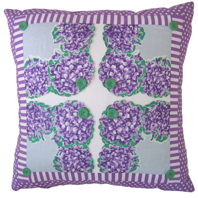 vintage handkerchief pillow