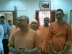 On bengali New Year day 15th April 2007 (3) (HOLY TRIO) Tags: new delhi mission undertaking secretary swami ramakrishna revered shantatmanandaji responcibilites