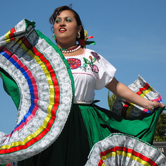 twirling cinco de mayo dress (fotogail) Tags: sanfrancisco people holiday mexico pix published fiesta action stripes pride dancer fabric missiondistrict lacy folklorico cincodemayo fotogail draped gail:williams=2007 24hoursofflickr your2007favesthanks