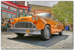 Who Called for a Cab? (Fraggle Red) Tags: california losangeles digitalart hollywood universalstudios hdr canoneosdigitalrebelxt lucisart photomatix canonefs1785mmf456isusm 3exp