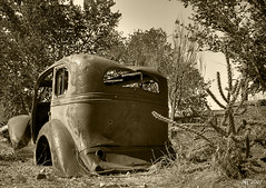 End of the Road (norjam8) Tags: old arizona car sepia vintage route66 rust automobile desert antique rusty pb soe hdr hackberry blueribbonwinner 5xp superaplus aplusphoto diamondclassphotographer flickrdiamond imgp7244hps norjamss