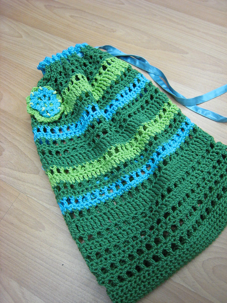 Work Your Way Up String Bag « Yarnberry