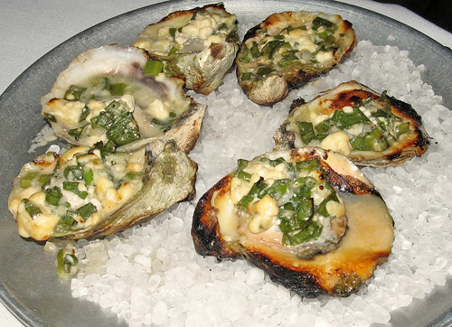 Char-Grilled Oysters with Roquefort Cheese