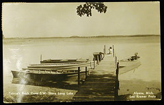 Alpena Mi Fishing Card (UpNorth Memories - Donald (Don) Harrison) Tags: lake vintage river fishing memories salmon traverse trout upnorth manistee benzie upnorthmemories donharrison