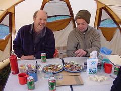 John and Martin the dinner tent