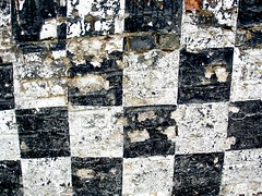 Checkered (allispossible.org.uk) Tags: old blackandwhite white black texture square grid peeling noir pattern mesh squares decay chess caro weiss blanc schwarz chessboard checks pealing cheque chequer weis chequers carriert opaint chesschequer