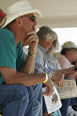 Watchers at the sheepdog trials