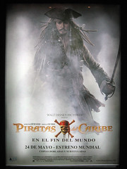 Jack Sparrow on Pirates 3 poster