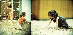 Confettis rain (...cathzilla) Tags: playing museum kids children fun diptych colours contemporaryart joy vernissage diptyque confettis laughs nmes carrdart