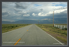 An empty road leading to Great Sand Dunes Nati...