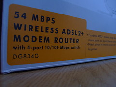 media virgin modem wireless router adsl netgear dg834g