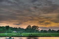Sunset over Wisla (SzyMA) Tags: sunset sky sun poland polska hdr sma wisla tyniec 3xp krakoff 2ev szyma smaphotopl