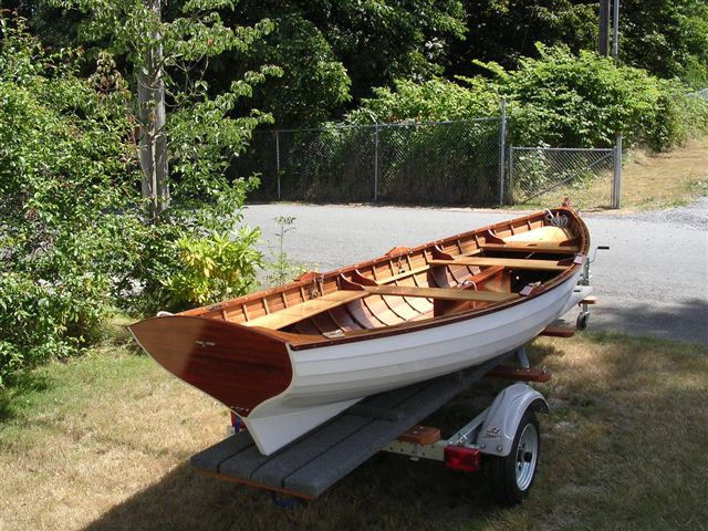 I want to build real wooden rowboat