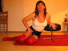nr_0053 (Frdrique Trpanier) Tags: red sexy amsterdam tv lips tgirl transgender brunette tg