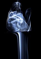 Smoke and Blade (Hugh Beauchamp) Tags: blue abstract smoke blade strobe penknife cotcmostinteresting utata:description=hide utata:project=justblack