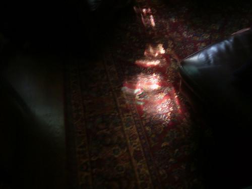 rug in sun