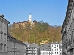 Castillo de Ljubljana (zackds) Tags: castle cutout europa europe slovenia ljubljana castillo colouring eslovenia selective colourisation desaturado selectivo