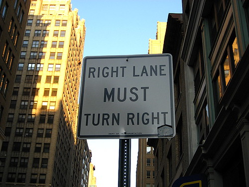 Right Lane Must Turn Right, Midtown