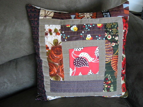 finished log cabin pillow!