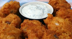 Hush Puppies With Creamy Dill Sauce
