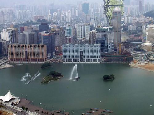 Vista aérea de la ciudad de Macao