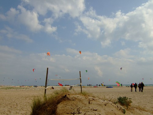 Kites on Tarifa's beach