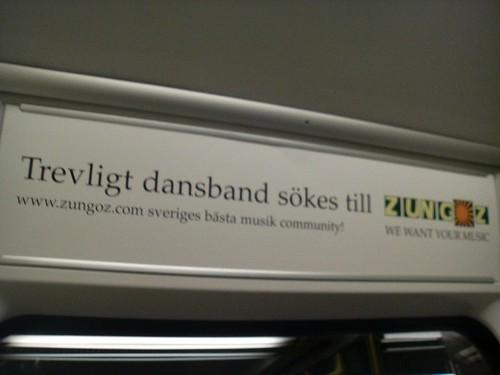 Zungoz-reklam med särskrivning