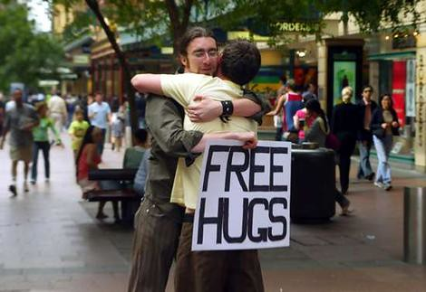 Even that, not many people will go and hug.... cause it seems to be not so ...