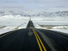 hgy 50 nevada (wait4thelight) Tags: nevada highway50 snowroad emptyroad searchforthebest lonliestroad emptyplanet