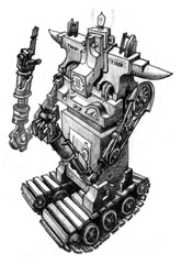 154. Sir Isaac Two-Ton (paul hayes) Tags: art illustration pen ink robot drawing 700 ballpoint paulandrewhayes 700things sevenhundred:group=robots sevenhundred:number=154