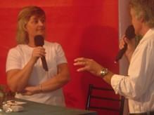 Jacqueline González (Profesora), Jose Luis Celli (Co-conductor de Radio-Imagen)