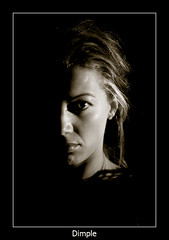 Shadow (nune) Tags: light shadow portrait blackandwhite bw woman eye face sepia female wow 2007