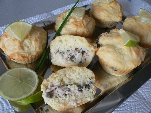 Capers & Trout Muffins - Forelle-Kapern-Muffins