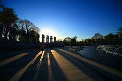 World War II Memorial, Washington D.C., Sunset - by ehpien