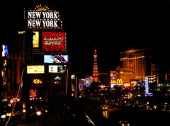 This could be Heaven or this could be Hell (bekahpaige) Tags: vegas usa newyork paris glitter lights hotel neon nightscape lasvegas casino strip northamerica thestrip 10faves abigfave aplusphoto goldenphotographer diamondclassphotographer flickrdiamond