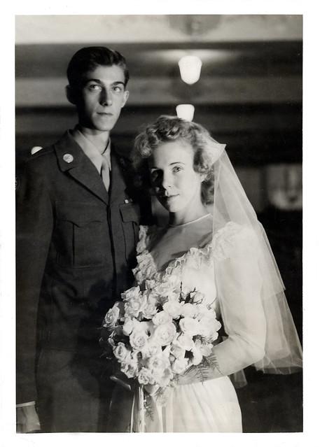 Grandpa & Grandma's Wedding Photograph
