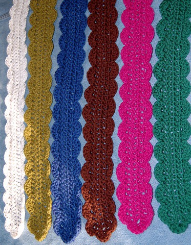 Frilly Crocheted Scarves