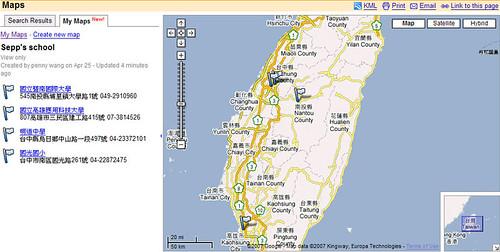 google map taiwan