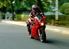 Ducati 999 Testastretta (~FreeBirD~) Tags: world light red india motion art colors beauty sex speed italian nikon automobile asia shoot d70 wheels x motorcycle biker ducati newdelhi 999 shoei bhp testastretta nikonstunninggallery manibabbar httpbirdofpreyspaceslivecom httplamenblogspotcom